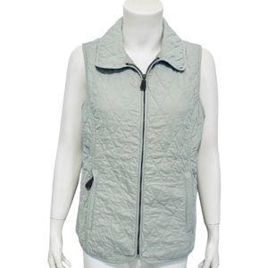 L.L. BEAN | Women's Quilted Zip-Up Vest Size M Reg